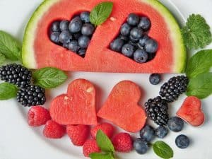 Fruit Watermelon Fruits Heart